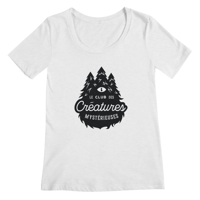 Curious Critters Club - Logo French Women's Scoop Neck by kilopop's Artist Shop