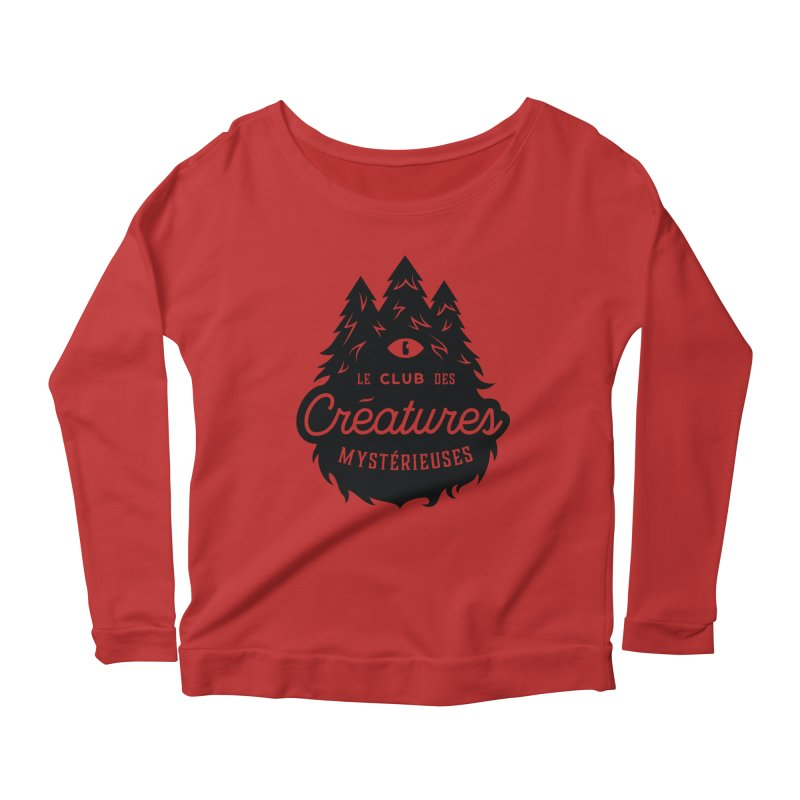 Curious Critters Club - Logo French Women's Scoop Neck Longsleeve T-Shirt by kilopop's Artist Shop