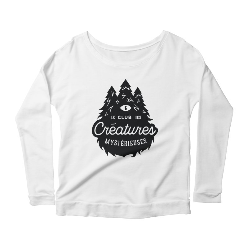 Curious Critters Club - Logo French Women's Longsleeve Scoopneck  by kilopop's Artist Shop