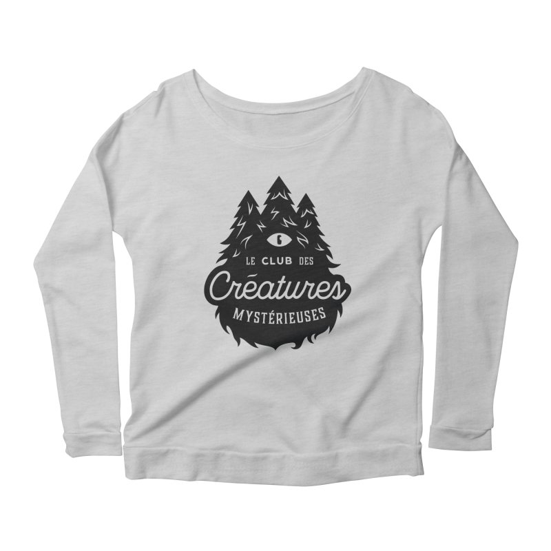 Curious Critters Club - Logo French Women's Scoop Neck Longsleeve T-Shirt by kilopop's Artist Shop