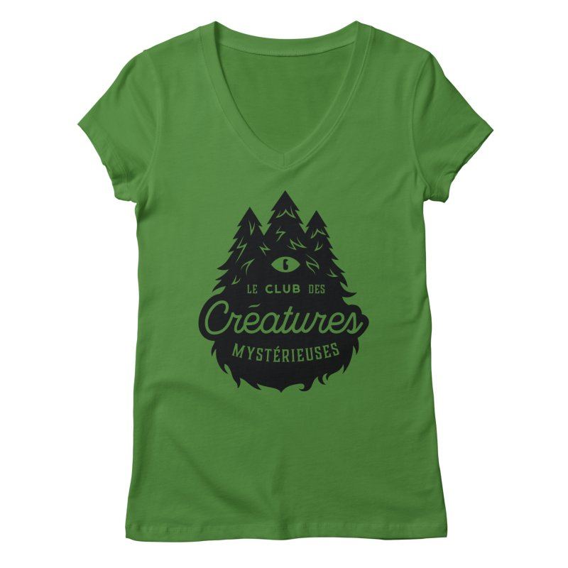 Curious Critters Club - Logo French Women's Regular V-Neck by kilopop's Artist Shop