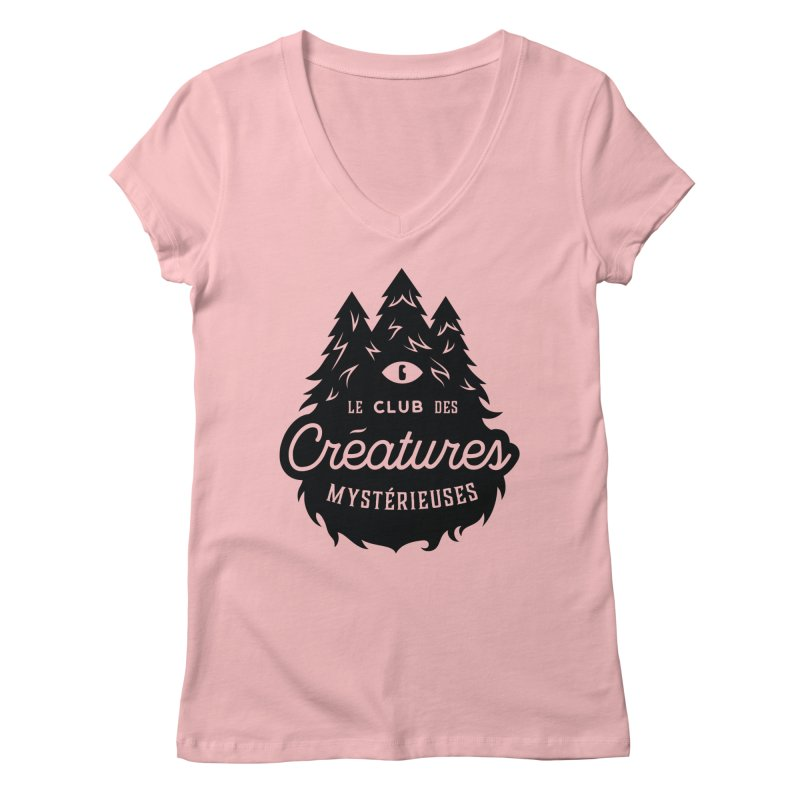 Curious Critters Club - Logo French Women's V-Neck by kilopop's Artist Shop
