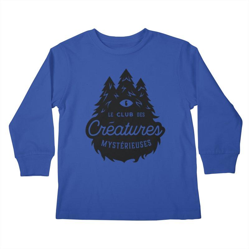 Curious Critters Club - Logo French Kids Longsleeve T-Shirt by kilopop's Artist Shop