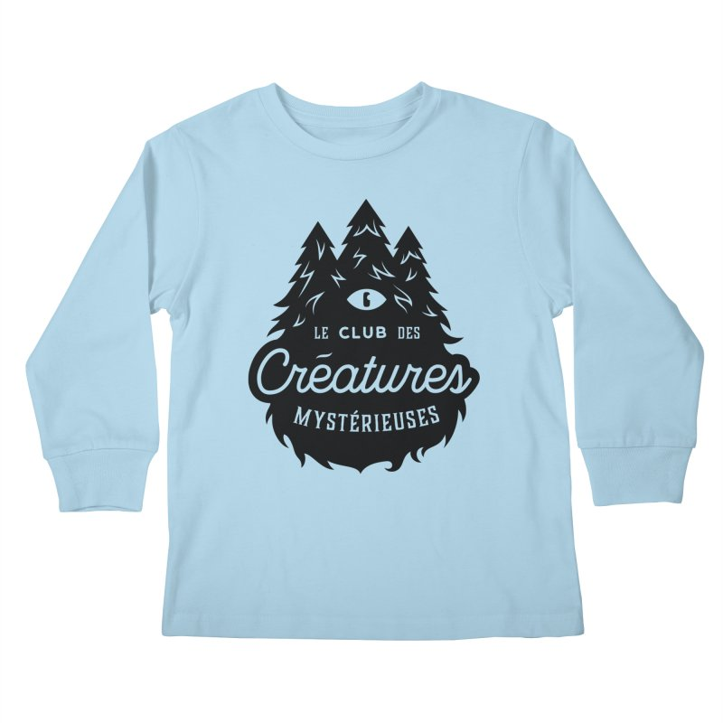 Curious Critters Club - Logo French Kids Longsleeve T-Shirt by kilopop's Artist Shop