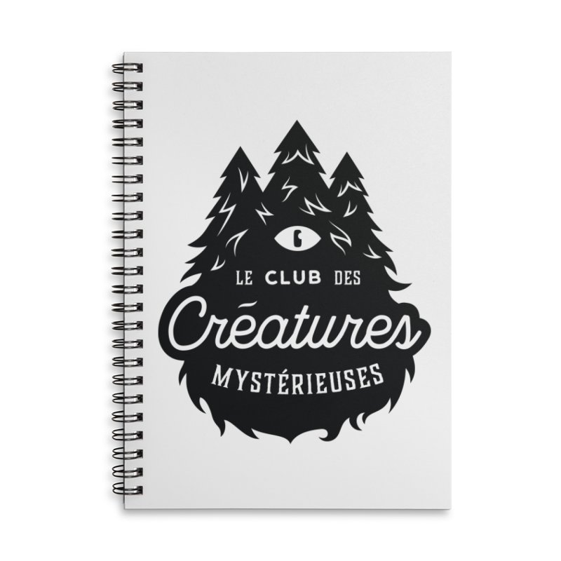 Curious Critters Club - Logo French Accessories Lined Spiral Notebook by kilopop's Artist Shop
