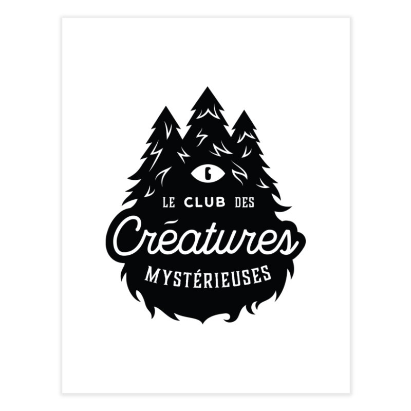 Curious Critters Club - Logo French Home Fine Art Print by kilopop's Artist Shop