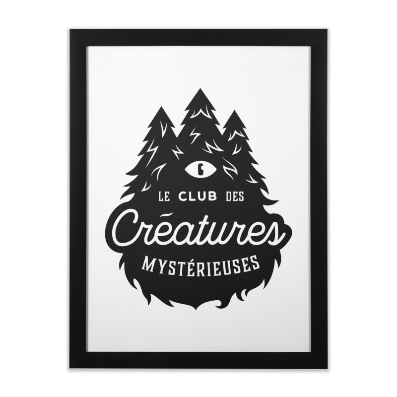Curious Critters Club - Logo French Home Framed Fine Art Print by kilopop's Artist Shop