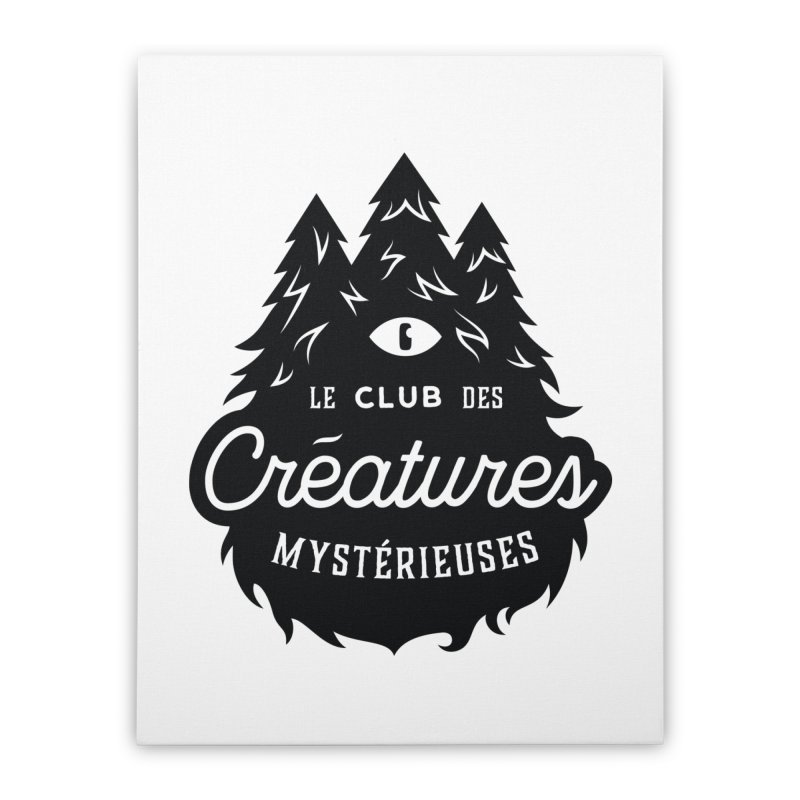 Curious Critters Club - Logo French Home Stretched Canvas by kilopop's Artist Shop