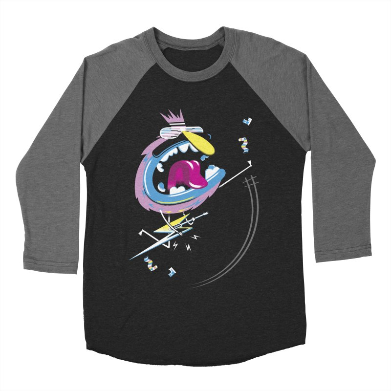 Rock Yo Socks Off Men's Baseball Triblend Longsleeve T-Shirt by kilopop's Artist Shop