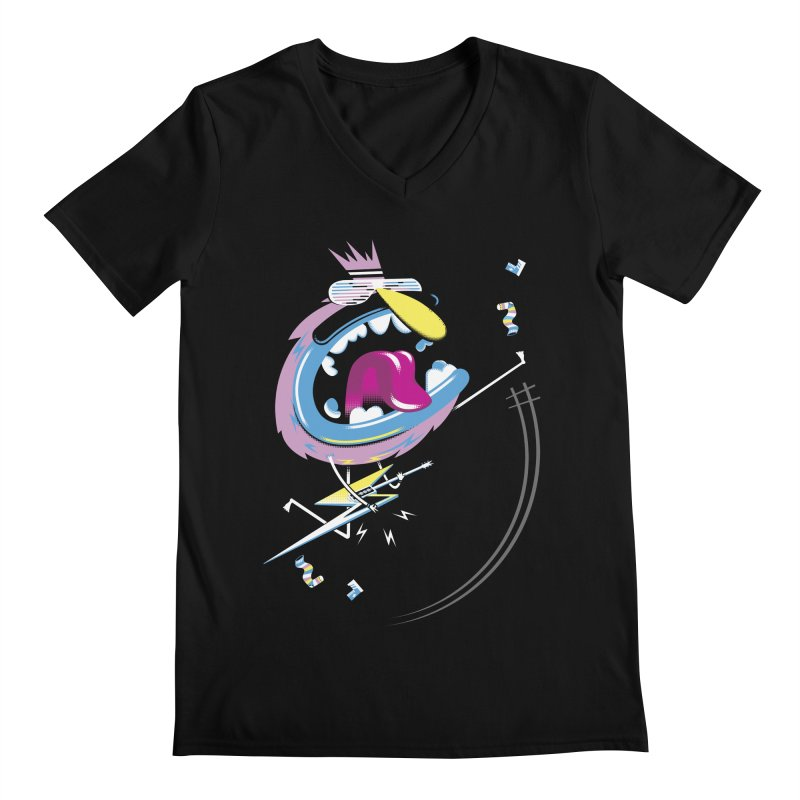 Rock Yo Socks Off Men's V-Neck by kilopop's Artist Shop