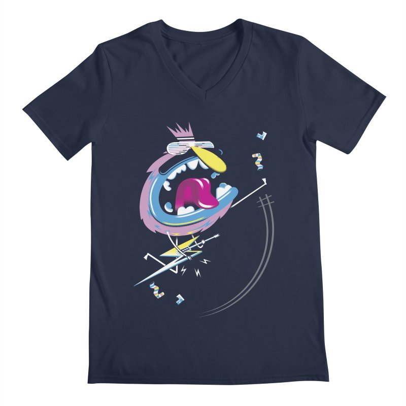 Rock Yo Socks Off Men's Regular V-Neck by kilopop's Artist Shop
