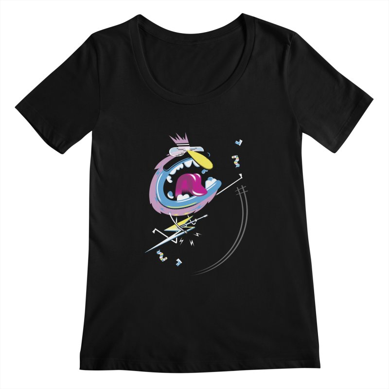 Rock Yo Socks Off Women's Scoopneck by kilopop's Artist Shop