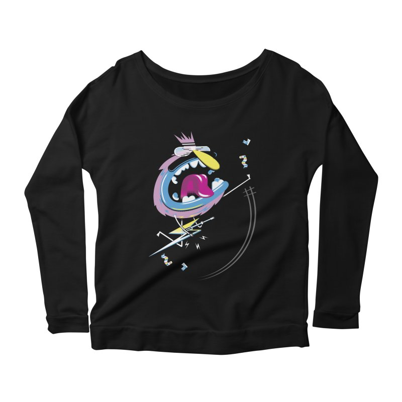 Rock Yo Socks Off Women's Scoop Neck Longsleeve T-Shirt by kilopop's Artist Shop