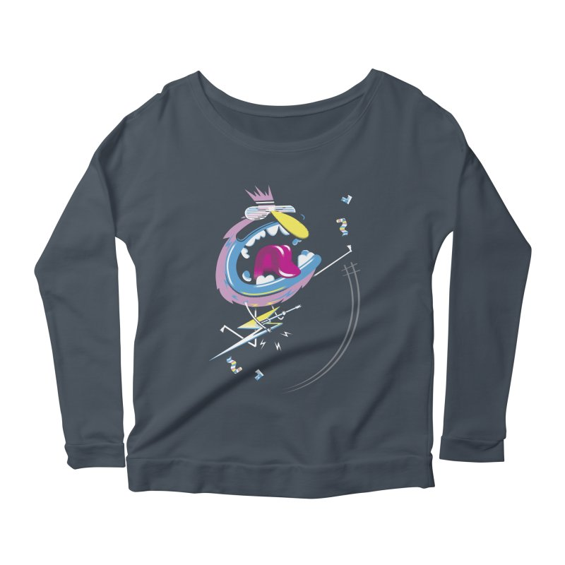 Rock Yo Socks Off Women's Longsleeve Scoopneck  by kilopop's Artist Shop