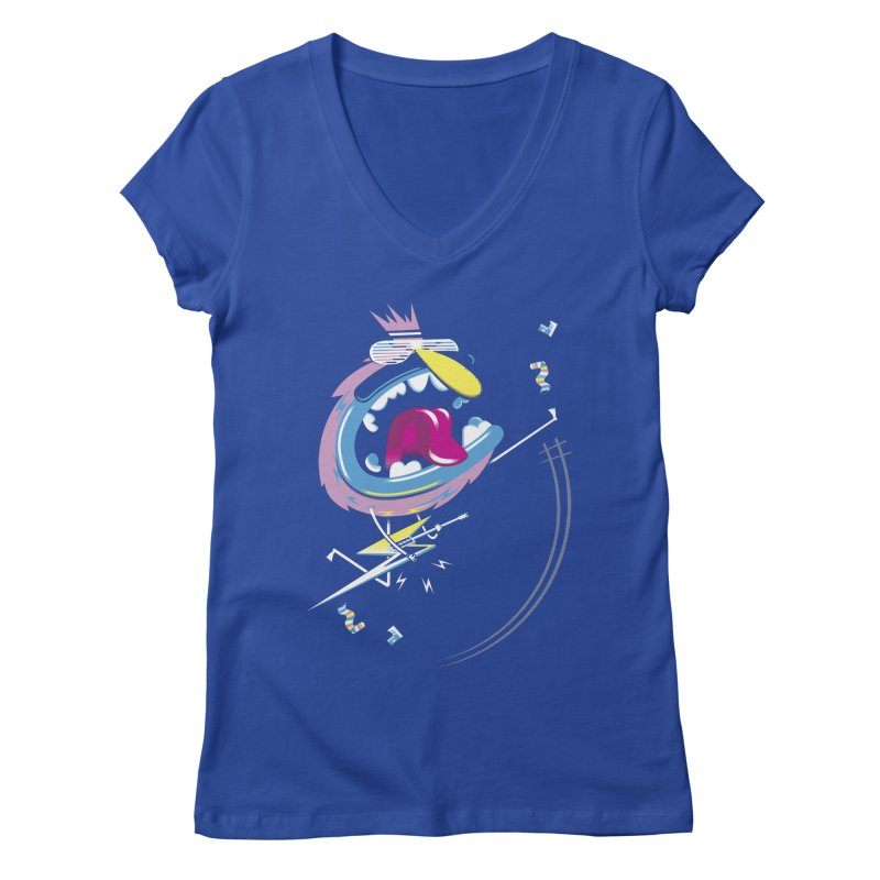 Rock Yo Socks Off Women's V-Neck by kilopop's Artist Shop