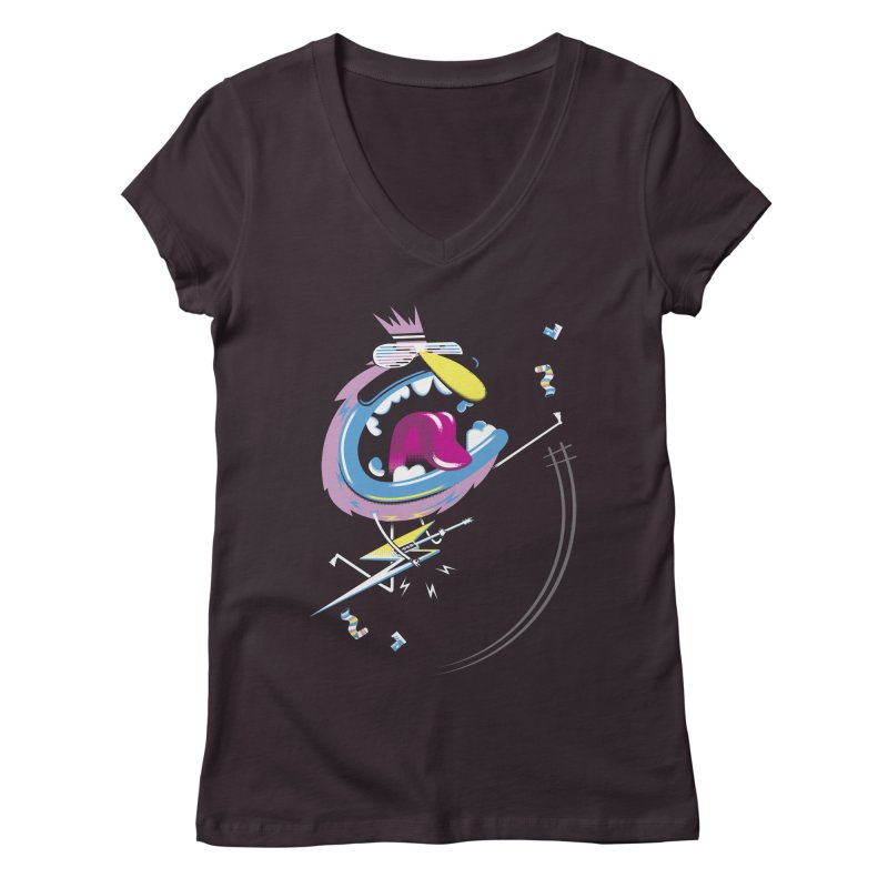 Rock Yo Socks Off Women's Regular V-Neck by kilopop's Artist Shop