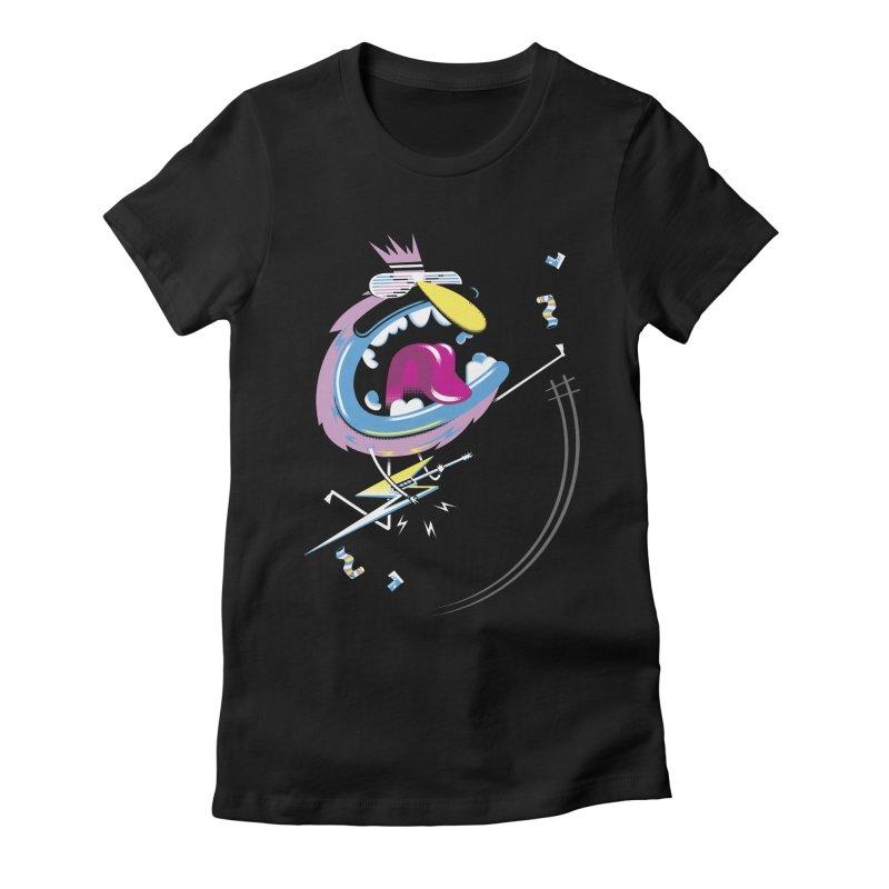 Rock Yo Socks Off Women's Fitted T-Shirt by kilopop's Artist Shop