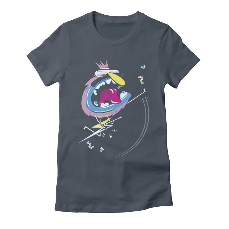 Rock Yo Socks Off Women's Fitted T-Shirt by kilopop's Artist Shop