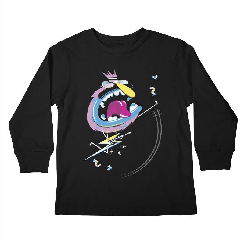 Rock Yo Socks Off Kids Longsleeve T-Shirt by kilopop's Artist Shop
