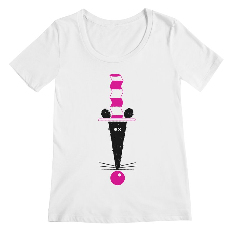 Rat In The Hat Women's Regular Scoop Neck by kilopop's Artist Shop