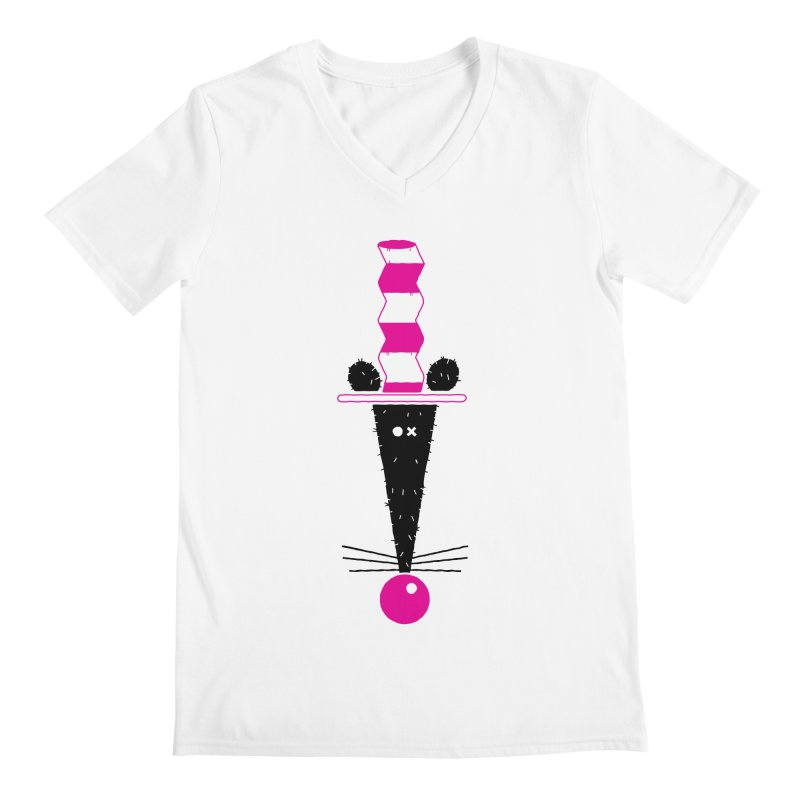 Rat In The Hat Men's Regular V-Neck by kilopop's Artist Shop