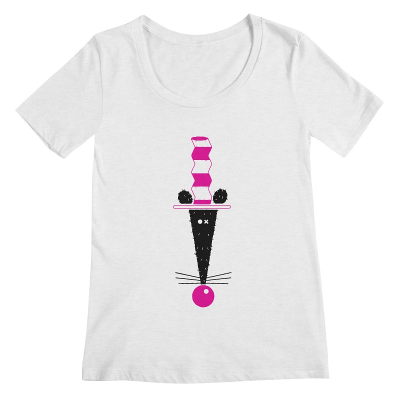 Rat In The Hat Women's Scoopneck by kilopop's Artist Shop