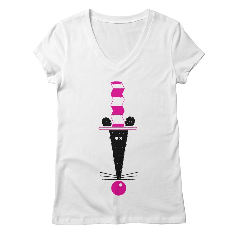 Rat In The Hat Women's Regular V-Neck by kilopop's Artist Shop