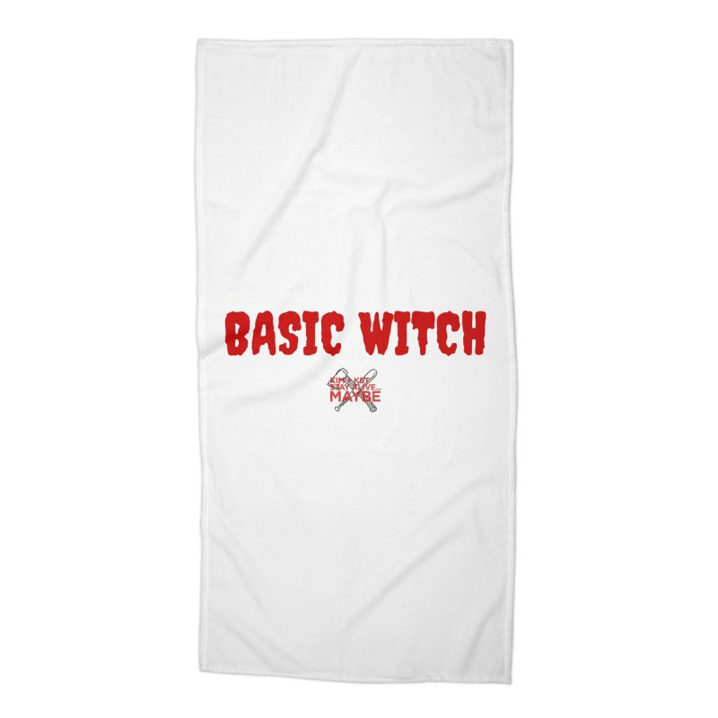 Basic Witch 3 Accessories Beach Towel by Kim and Ket Stay Alive... Maybe Podcast
