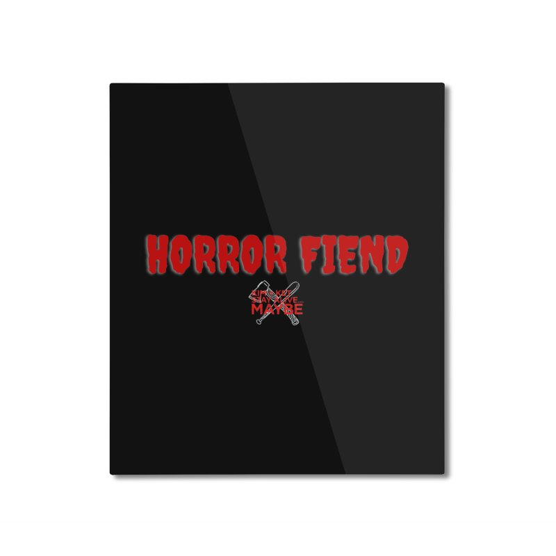 Horror Fiend 1 Home Mounted Aluminum Print by Kim and Ket Stay Alive... Maybe Podcast