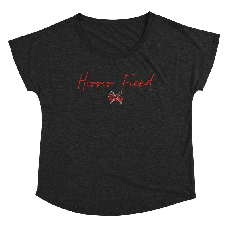 Horror Fiend 2 Women's Scoop Neck by Kim and Ket Stay Alive... Maybe Podcast
