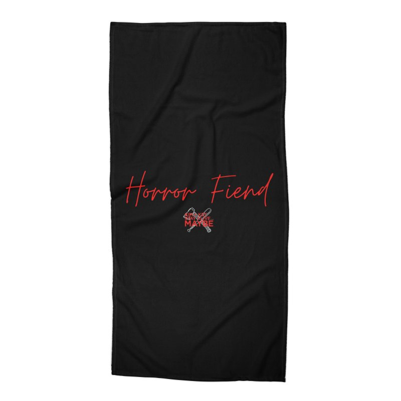 Horror Fiend 2 Accessories Beach Towel by Kim and Ket Stay Alive... Maybe Podcast