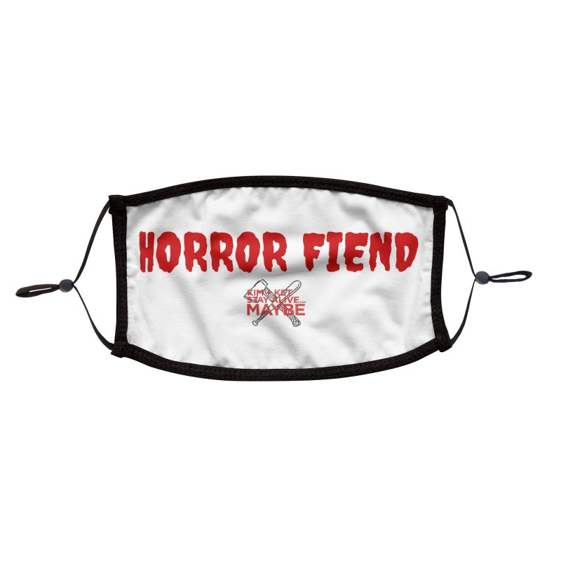 Horror Fiend 3 Accessories Face Mask by Kim and Ket Stay Alive... Maybe Podcast