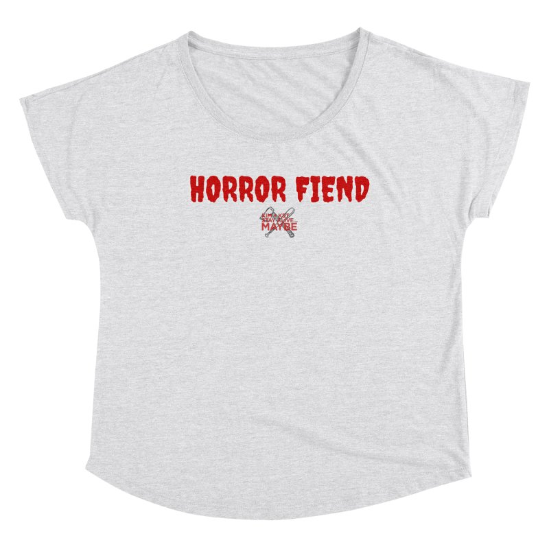 Horror Fiend 3 Women's Scoop Neck by Kim and Ket Stay Alive... Maybe Podcast