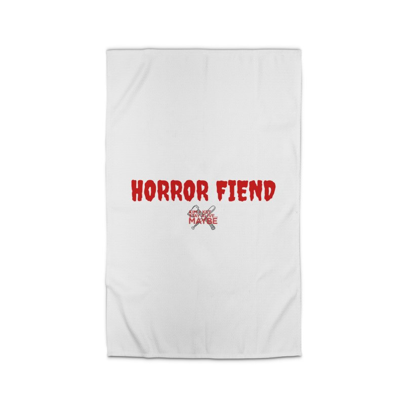 Horror Fiend 3 Home Rug by Kim and Ket Stay Alive... Maybe Podcast