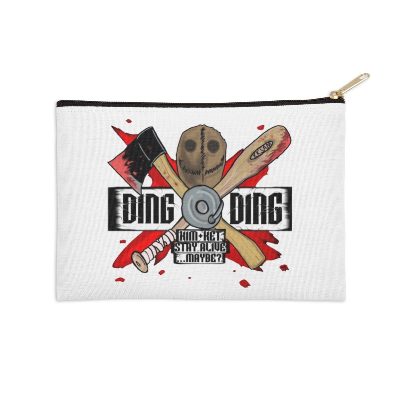 Ding Ding! Accessories Zip Pouch by Kim and Ket Stay Alive... Maybe Podcast