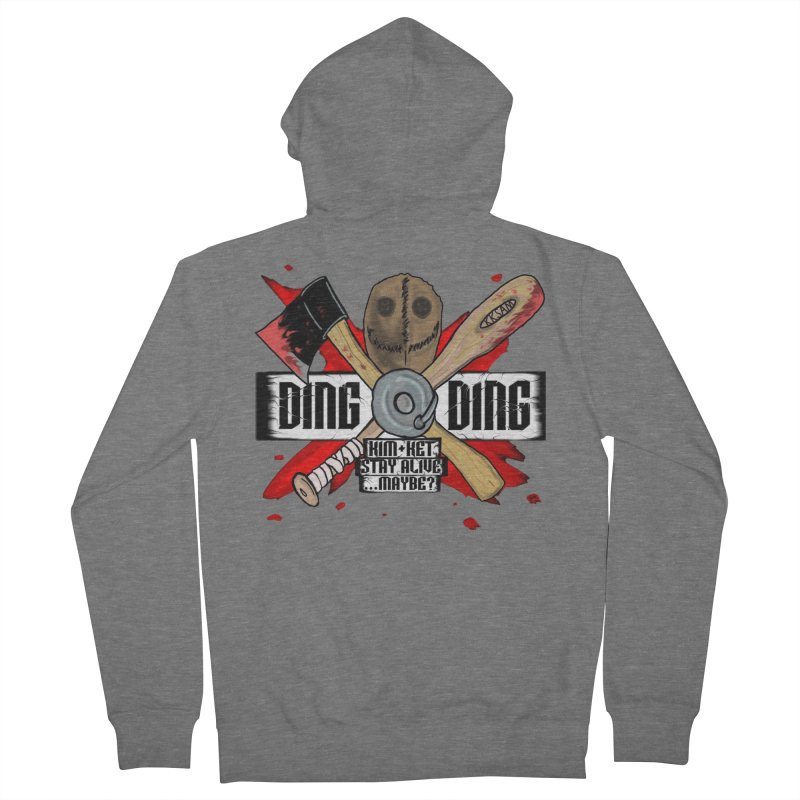 Ding Ding! Women's Zip-Up Hoody by Kim and Ket Stay Alive... Maybe Podcast