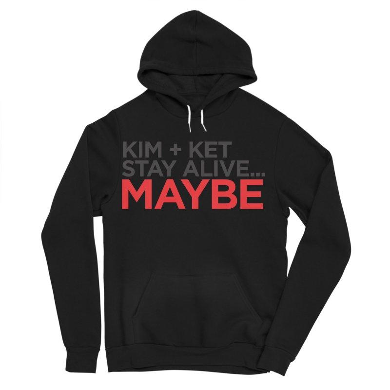 OG KKSAM Text Logo Men's Sponge Fleece Pullover Hoody by Kim and Ket Stay Alive... Maybe Podcast