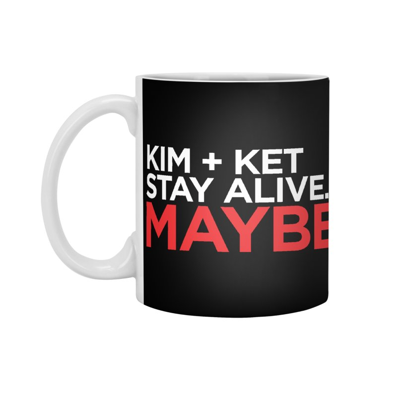 OG KKSAM Text Logo (White/Red) Accessories Mug by Kim and Ket Stay Alive... Maybe Podcast
