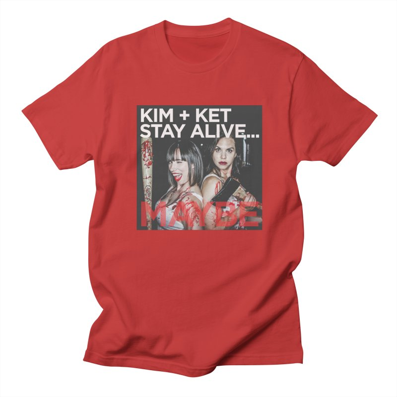 OG KKSAM Logo with Photo Men's Regular T-Shirt by Kim and Ket Stay Alive... Maybe Podcast