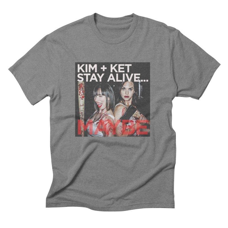 Kim and Ket Stay Alive... Maybe OG Photo Logo Men's Triblend T-Shirt by Kim and Ket Stay Alive... Maybe Podcast