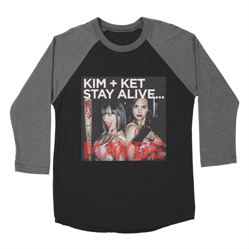 Kim and Ket Stay Alive... Maybe OG Photo Logo Men's Baseball Triblend Longsleeve T-Shirt by Kim and Ket Stay Alive... Maybe Podcast