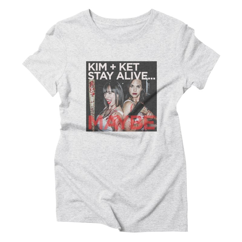 Kim and Ket Stay Alive... Maybe OG Photo Logo Women's T-Shirt by Kim and Ket Stay Alive... Maybe Podcast