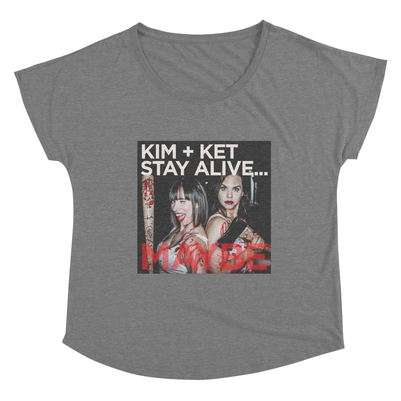 Kim and Ket Stay Alive... Maybe OG Photo Logo Women's Scoop Neck by Kim and Ket Stay Alive... Maybe Podcast