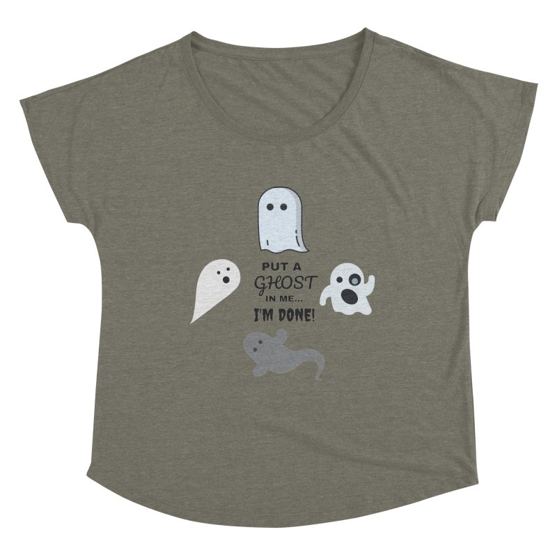 Put A Ghost In Me I'm Done / Kim and Ket Stay Alive... Maybe Women's Scoop Neck by Kim and Ket Stay Alive... Maybe Podcast