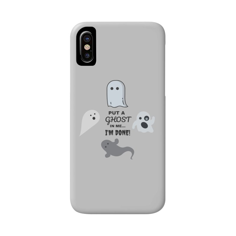 Put A Ghost In Me I'm Done / Kim and Ket Stay Alive... Maybe Accessories Phone Case by Kim and Ket Stay Alive... Maybe Podcast