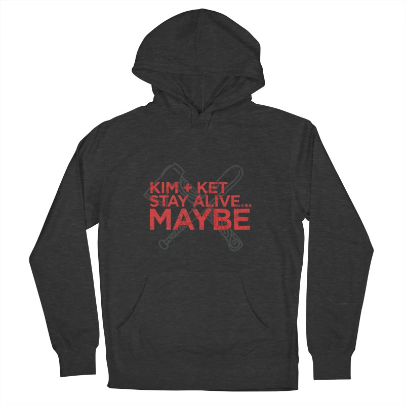 KKSAM Stamp Bat & Axe Logo (red letter) Men's French Terry Pullover Hoody by Kim and Ket Stay Alive... Maybe Podcast