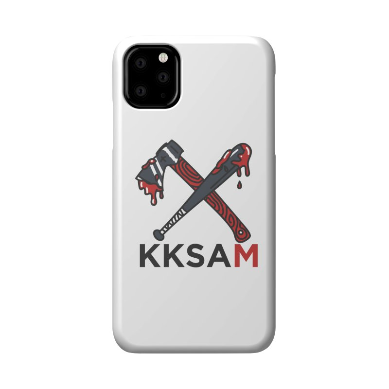 Kim and Ket Stay Alive... Maybe KKSAM Bat & Axe on White Accessories Phone Case by Kim and Ket Stay Alive... Maybe Podcast