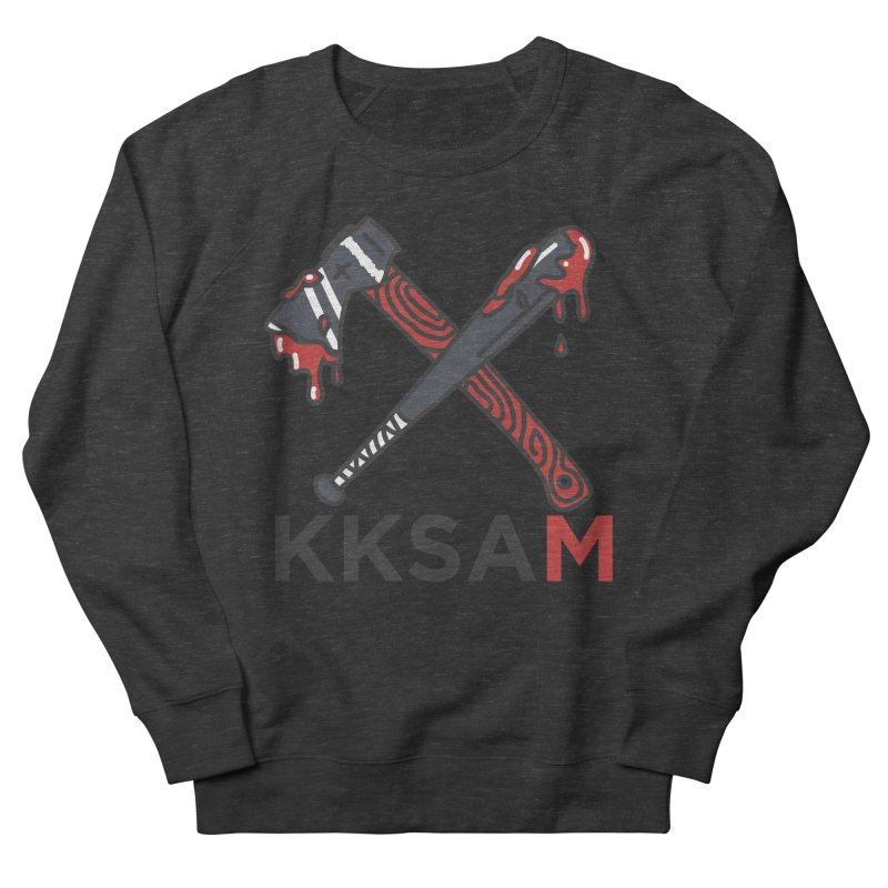 Bat and Axe Logo with KKSAM Women's French Terry Sweatshirt by Kim and Ket Stay Alive... Maybe Podcast
