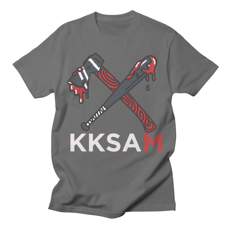 Kim and Ket Stay Alive... Maybe KKSAM Bat & Axe on Black Men's T-Shirt by Kim and Ket Stay Alive... Maybe Podcast