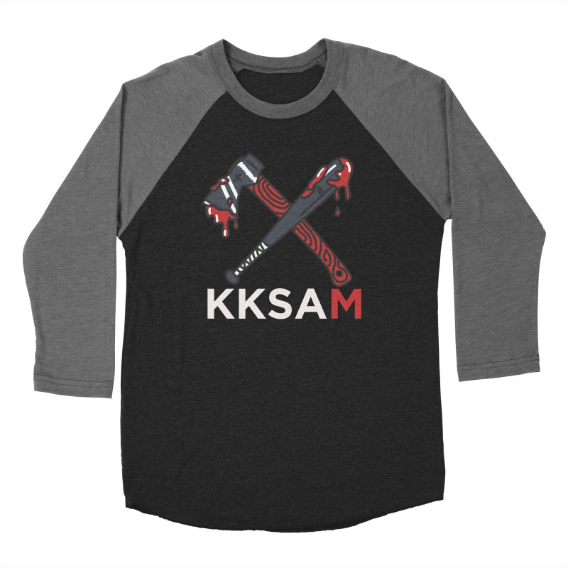 Kim and Ket Stay Alive... Maybe KKSAM Bat & Axe on Black Women's Longsleeve T-Shirt by Kim and Ket Stay Alive... Maybe Podcast